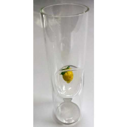 Limoncello Glas mit Zitrone - Medium - 75 ml - CasaNapoli