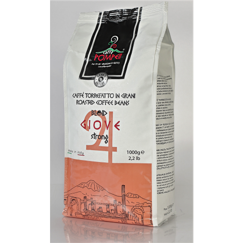 Giove - Forte - 80% Robusta und 20% Arabica - Kaffee in Bohnen - 1 Kilogramm - Pompeii Caffe