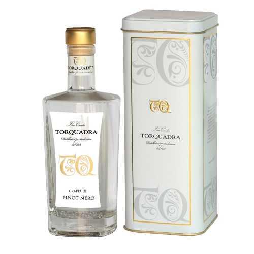 Grappa Trentina di Pinot Nero - 0,5 Liter - 40 vol. - in der Metalldose - Torquadra