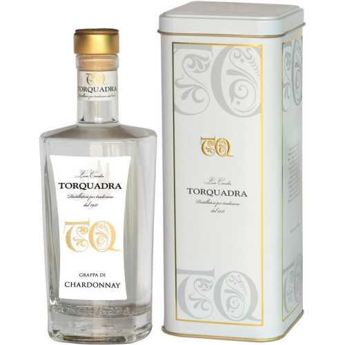 Grappa Trentina di Chardonnay - 0,5 Liter - 40 vol. - in der Metalldose - Torquadra