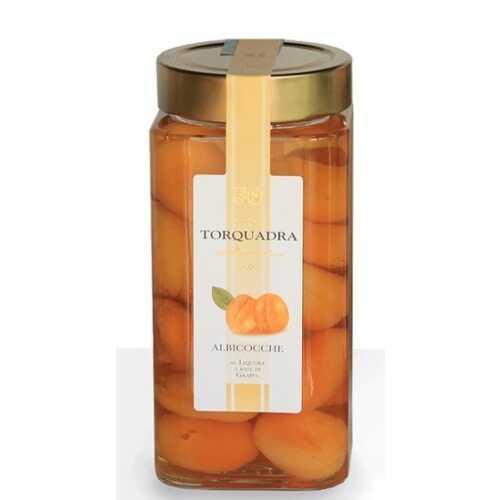 Aprikosen in Grappa eingelegt - Albicocche - 0,35 Liter - 28 vol. - Torquadra