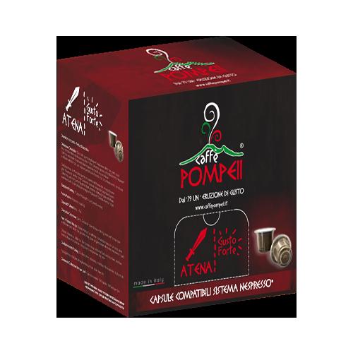 Atena Forte: 80% Robusta und 20% Arabica - kompatible Kaffeekapseln für Nespresso® - 100 Stück - Pompeii Caffe