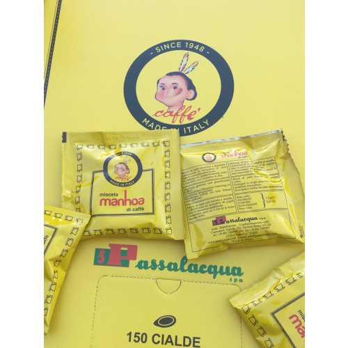 Manhoa - 75% Arabica und 25% Robusta - Cialde - Pads - 10 Stück - Passalacqua Caffe