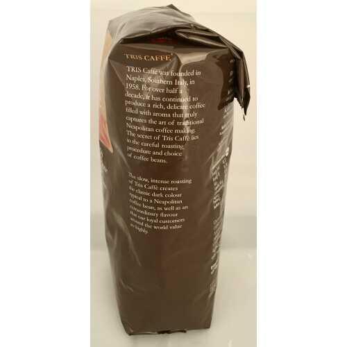 Tris - 50% Arabica und 50% Robusta - Kaffee in Bohnen - 1 Kilogramm - Tris Caffe (by Barbera)