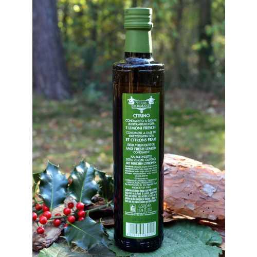 Citrino - 0,5 Liter - Natives Oliven-Öl mit frischen Zitronen - Terre Bormane