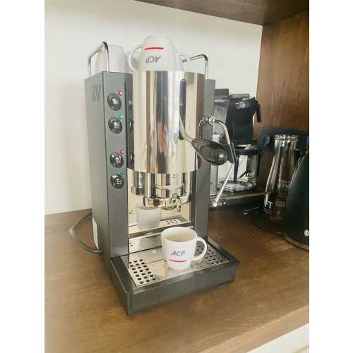 k: Pinocchio CV - Schwarz-Edelstahl - Padhalter - Kaffee und Dampf - Spinel