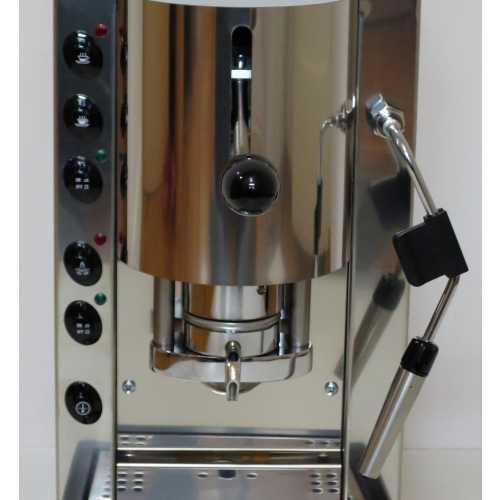 l: Pinocchio CV - Edelstahl komplett - Padhalter - Kaffee und Dampf - Spinel