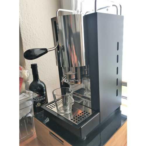 u: Pinocchio CV - Schwarz-Edelstahl - XL - Volumetrico - Padhalter - Tassengestell - Abtropfgitter - Kaffee und Dampf - Spinel