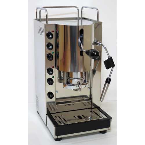 v: Pinocchio CV - Edelstahl komplett - XL - Volumetrico - Padhalter - Tassengestell - Abtropfgitter - Kaffee und Dampf - Spinel