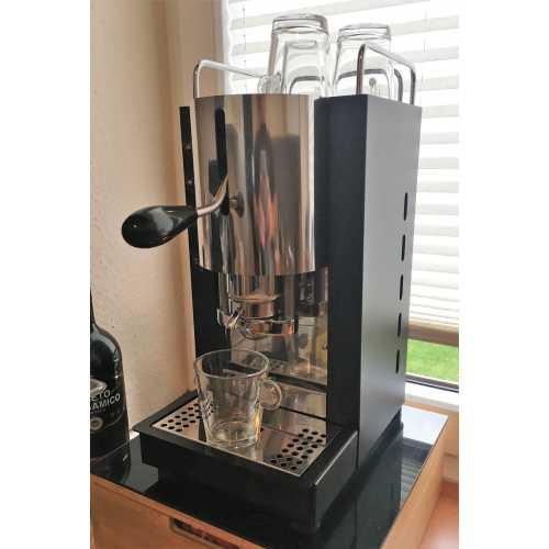 m: Pinocchio C - Schwarz-Edelstahl - XL - Padhalter - Kaffee - Spinel
