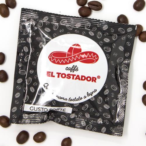 Forte - 10% Arabica und 90% Robusta - Holzröstung - Cialde - Pads - 10 Stück - El Tostador Caffe