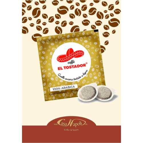 100% Arabica - Holzröstung - Cialde - Pads - 10 Stück - El Tostador Caffe