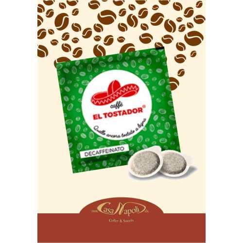 Decaffeinato - 50% Arabica und 50% Robusta - Holzröstung - Cialde - Pads - 10 Stück - El Tostador Caffe