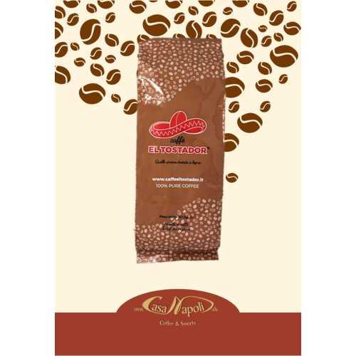 Intenso - 100% Robusta - Holzröstung - Kaffee in Bohnen - 1 Kilogramm - El Tostador Caffe