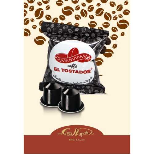 Forte - 10% Arabica und 90% Robusta - Holzröstung - kompatible Kaffeekapseln für Nespresso® - 10 Stück - El Tostador Caffe