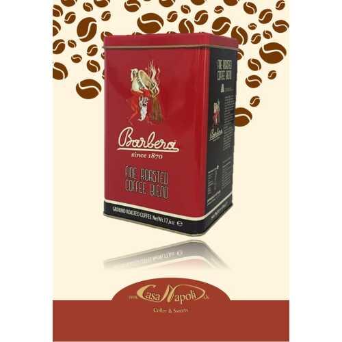 Vintage Maghetto - gemahlener Kaffee in der Vintage Dose von 1921 - 0,5 Kilogramm (2 * 250 gr) - Barbera Caffe