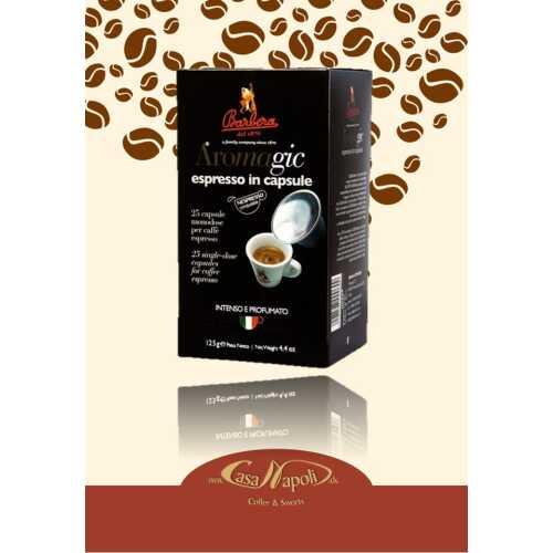 Aromagic - kompatible Kaffeekapseln für Nespresso® - 25 Stück - Barbera Caffe