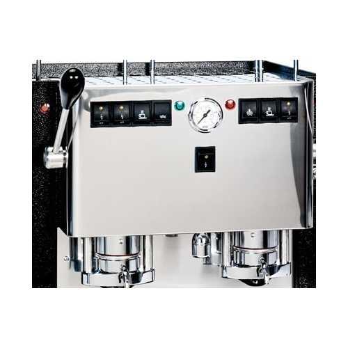 j: MiniMini Lux 2CAV - Edelstahl komplett - 2 * Kaffee, Heisswasser und Dampf - Spinel