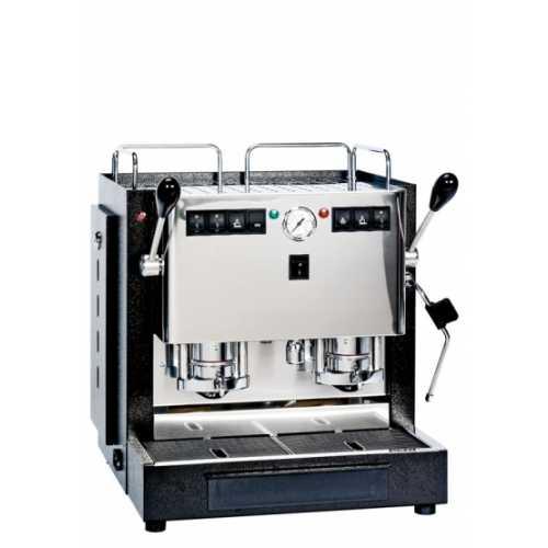 a: MiniMini Lux 2CAV - Schwarz-Edelstahl - 2 * Kaffee, Heisswasser und Dampf - Spinel