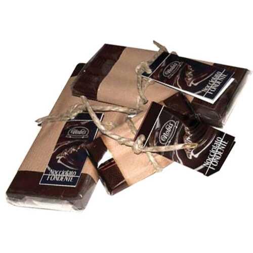 Dunkle Schokolade mit ganzen Haselnüssen aus Giffoni (DOP) - 200 Gramm - Nobis Nocciola