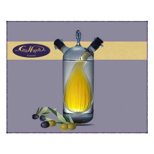Olivenöl- und Essig-Karaffe - Zwiebel - 200 und 80 ml - CasaNapoli
