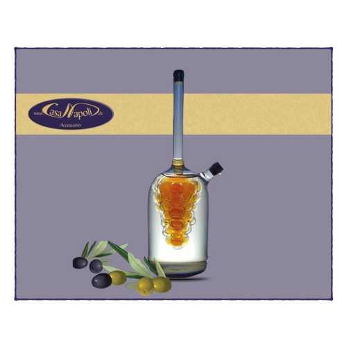 Olivenöl- und Essig-Karaffe - Traubenbündel - 120 und 70 ml - CasaNapoli