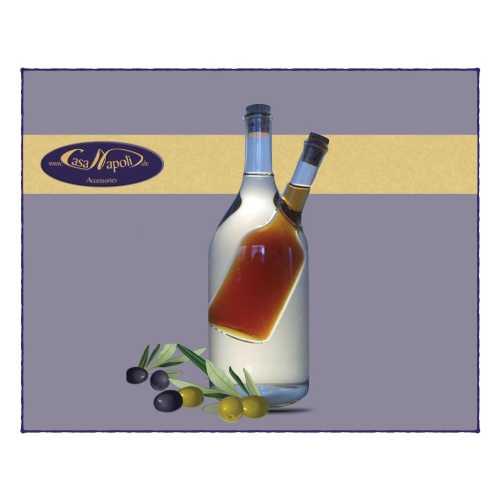 Olivenöl- und Essig-Karaffe - Flaschen-Doppel - 200 und 100 ml - CasaNapoli