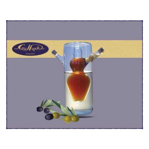 Olivenöl- und Essig-Karaffe - Schwimmende Bäuerin - 200 und 100 ml - CasaNapoli