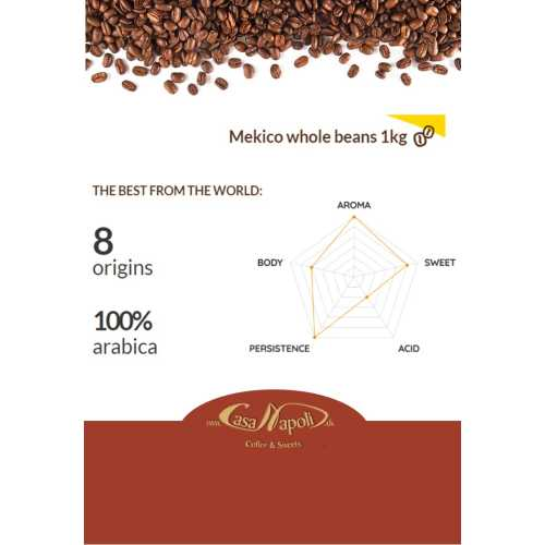 Mekico - 100% Arabica - Kaffee in Bohnen - 1 Kilogramm - Passalacqua Caffe