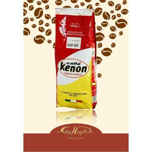 Baby Bar - 50% Arabica und 50% Robusta - Kaffee in Bohnen - 1,0 Kilogramm - Kenon Caffe
