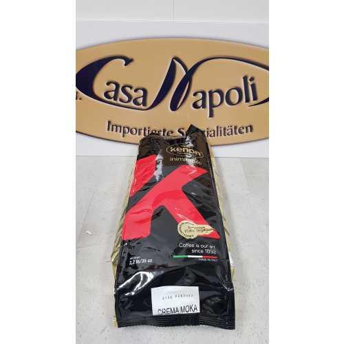 Crema Moka - 60% Arabica und 40% Robusta - Kaffee in Bohnen - 1,0 Kilogramm - Kenon Caffe