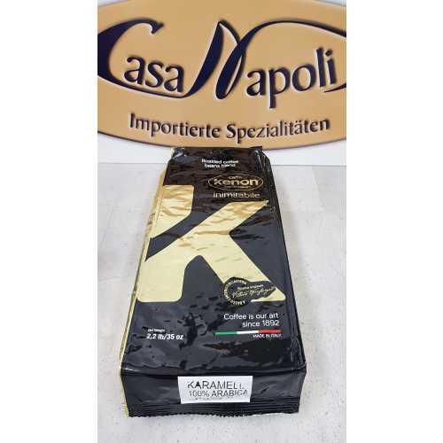 Karamell - 100% Arabica - Kaffee in Bohnen - 1,0 Kilogramm - Kenon Caffe