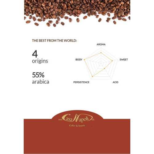 Helca - 55% Arabica und 45% Robusta - Cialde - Pads - 50 Stück - Passalacqua Caffe