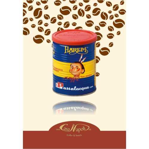 Harem - 95 % Arabica und 5 % Jamaica Blue Mountain gemahlener Kaffee in der Dose - 0,25 Kilogramm - Passalacqua Caffe