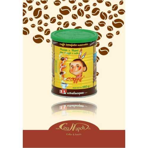 Mekico - 100% Arabica - gemahlener Kaffee in der Dose - 0,25 Kilogramm - Passalacqua Caffe