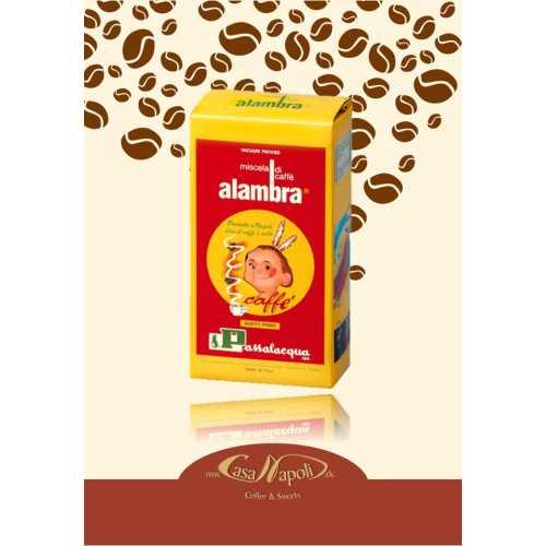 Alambra - 30% Arabica und 70% Robusta - gemahlener Kaffee - 250 gr - Passalacqua Caffe