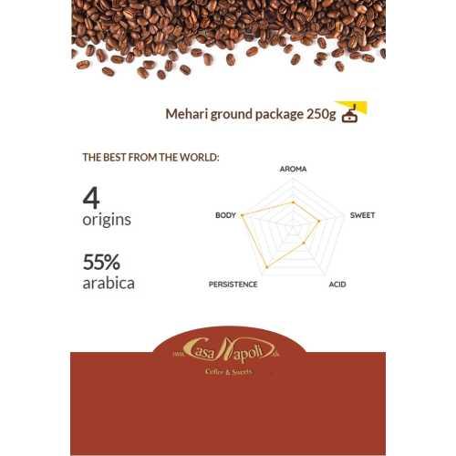 Mehari - 55% Arabica und 45% Robusta - gemahlener Kaffee - 250 gr - Passalacqua Caffe