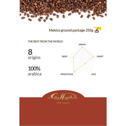 Mekico - 100% Arabica - gemahlener Kaffee - 250 gr - Passalacqua Caffe