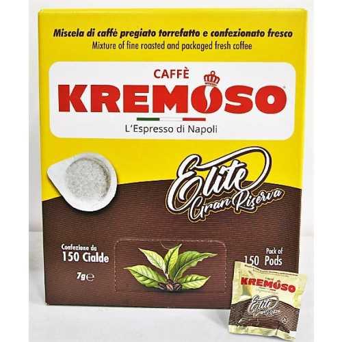 Elite Gran Riserva - 90% Arabica und 10% Robusta - Cialde - Pods - 150 Stück - Kremoso Caffe
