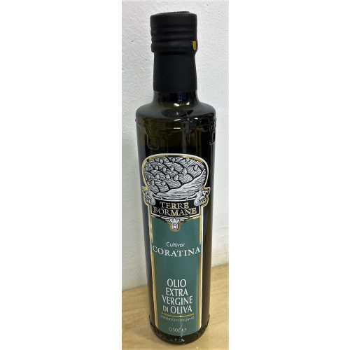 Coratina - Extra Natives Olivenöl - 0,5 Liter - Oliven-Öl - Terre Bormane