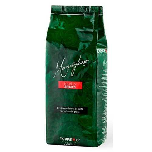 Meraviglioso - Wunderbar - 90% Arabica und 10% Robusta - Kaffee in Bohnen - 1 Kilogramm - Espresso Caffe