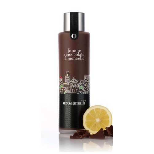 Schokoladen-Limoncello Likör - Cioccolato e Limoncello - 0,5 Liter - 18 vol. - Flasche: Thai - LOro di Amalfi