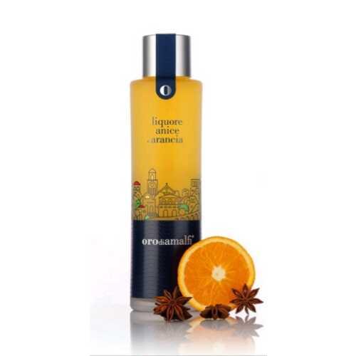 Orangenlikör an Anis - Anice e Arancia - 0,5 Liter - 27 vol. - Flasche: Thai - LOro di Amalfi