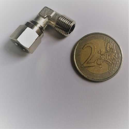 Spinel ESE - Verbindungsstück L-Form Innen-/ und Außengewinde - RACCORDO A L M 1/8 DM. 6 CON OGIVAFP