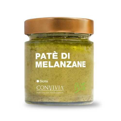 Auberginen Paté - Bio, Gluten-Frei und Veganes Produkt - Patè di melanzane - 190 gr - Convivia Sicilia