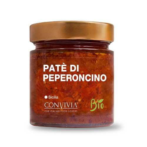Paprika Paté - Bio, Gluten-Frei und Veganes Produkt - Patè di peperoncino - 190 gr - Convivia Sicilia