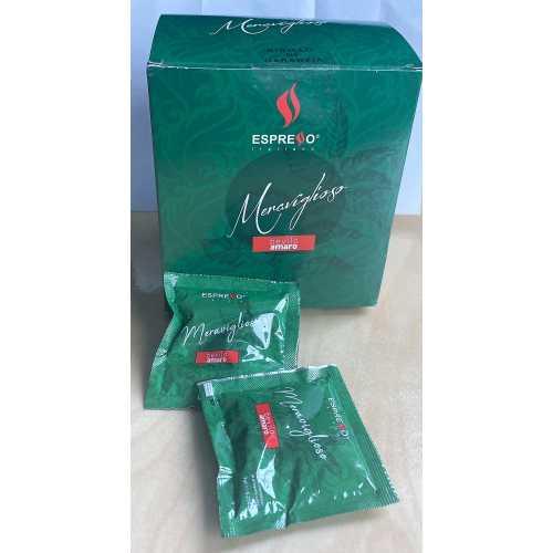 Meraviglioso - Wunderbar - 90% Arabica und 10% Robusta - Cialde - ESE - Pods - 30 Stück - Espresso Caffe