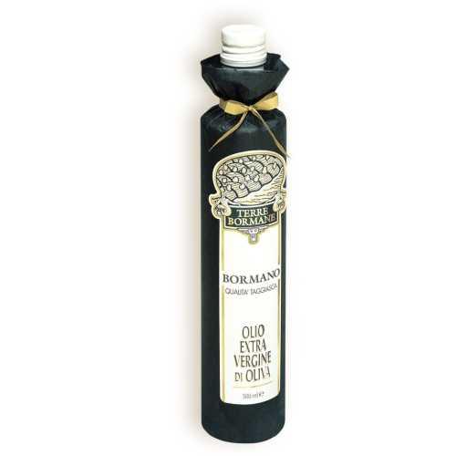 Bormano Qualita Taggiasca - Extra Natives Olivenöl - 0,75 Liter - in Papier gewickelt - Oliven-Öl - Terre Bormane