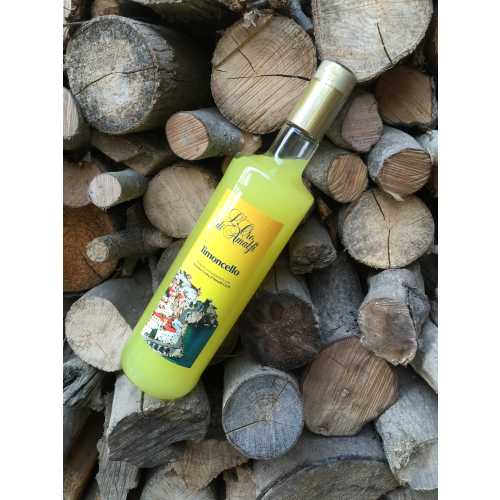 Limoncello from Amalfi - 1,0 Liter - 35 vol. - Bottle: Cristal