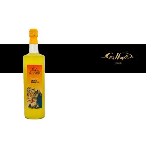 Orangenlikör an Anis - Anice e Arancia - 1,0 Liter - 27 vol. - Flasche: Cristal - LOro di Amalfi